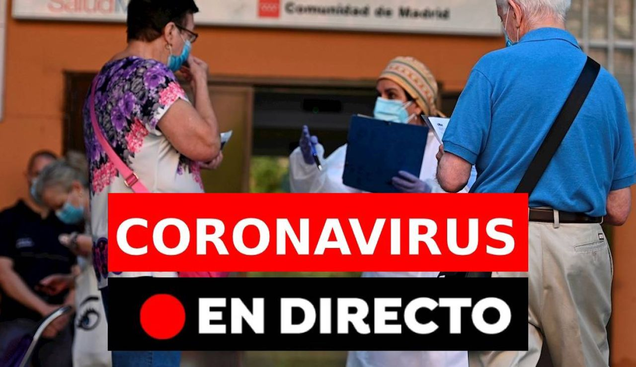Coronavirus hoy: Rebrotes en España, contagios y últimas noticias del domingo 27 de septiembre, en directo