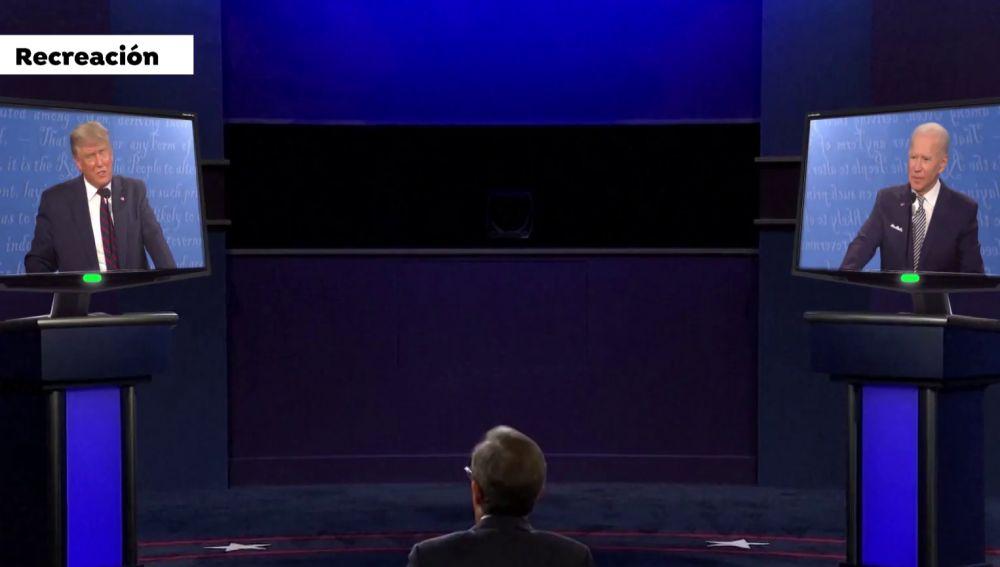 ¿Cómo sería el debate virtual a distancia entre Donald Trump y Joe Biden?