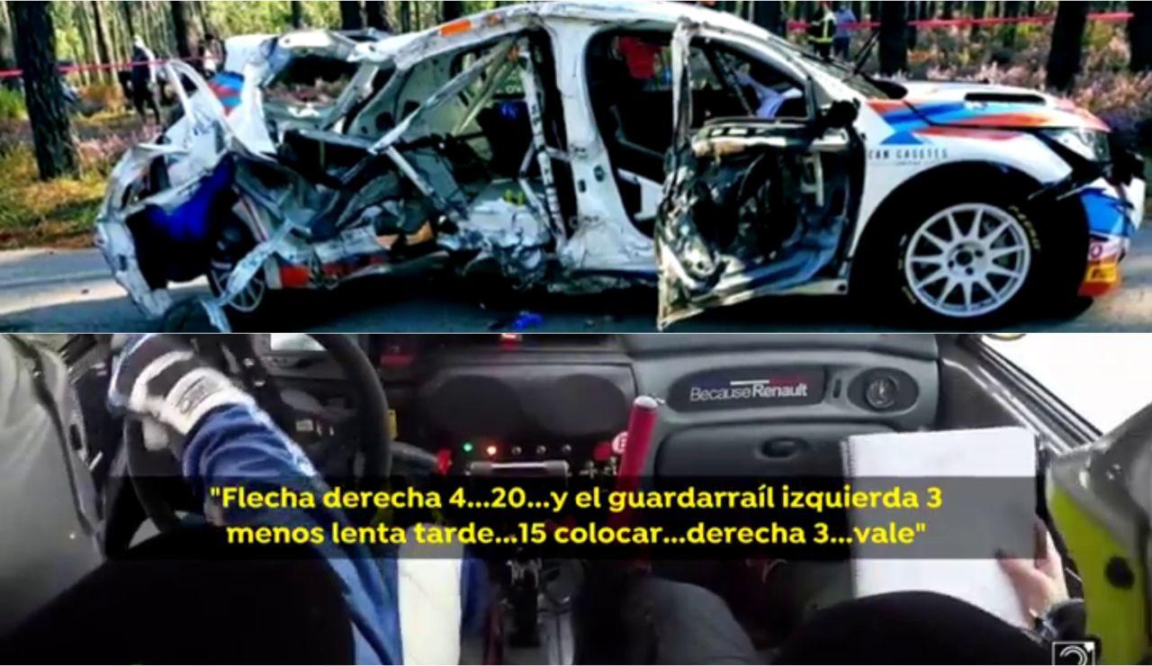 Las terribles imágenes del accidente en el que ha muerto la copiloto española Laura Salvo en Portugal