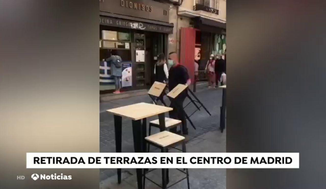 Los comerciantes madrileños denuncian que les han multado por tener ampliadas las terrazas mientras esperaban la autorlización