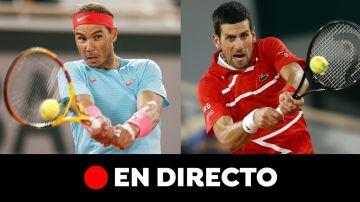 Rafa Nadal - Djokovic: final de Roland Garros 2020, en directo