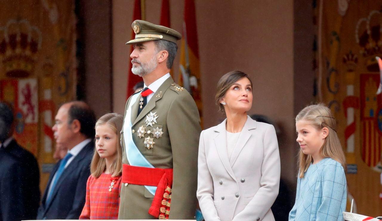 Imagen de archivo de los Reyes en el desfile del 12 de Octubre