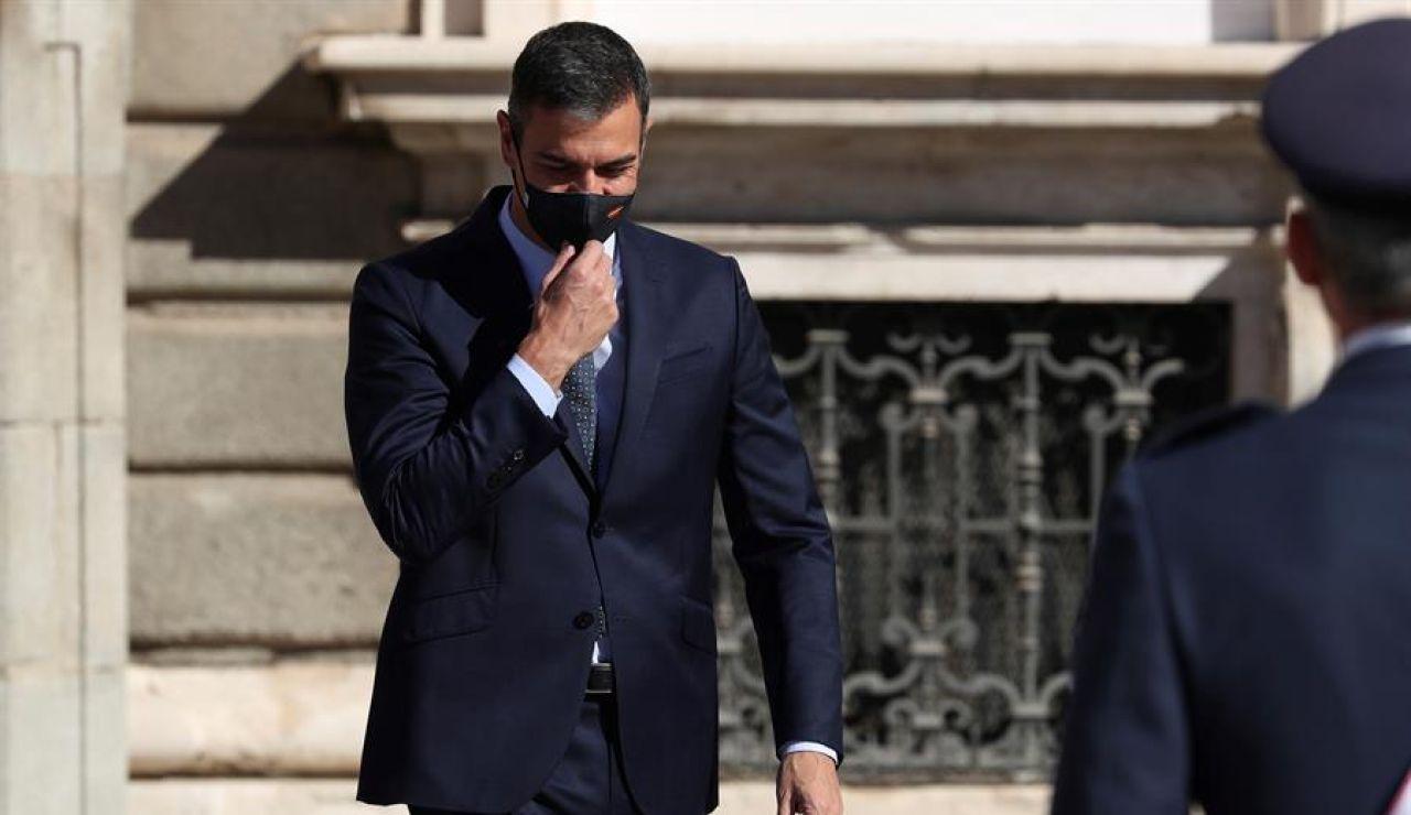 Pedro Sánchez, en el acto del 12 de octubre