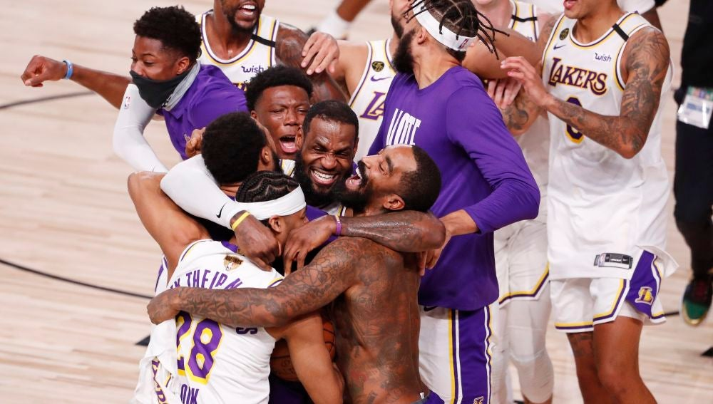 Los Lakers, campeones de la NBA tras arrollar a Miami Heat con un gran LeBron James
