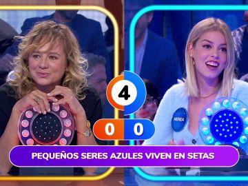Nerea Rodríguez se transforma en Pitufina para vencer a Emma Suárez en 'La Pista'