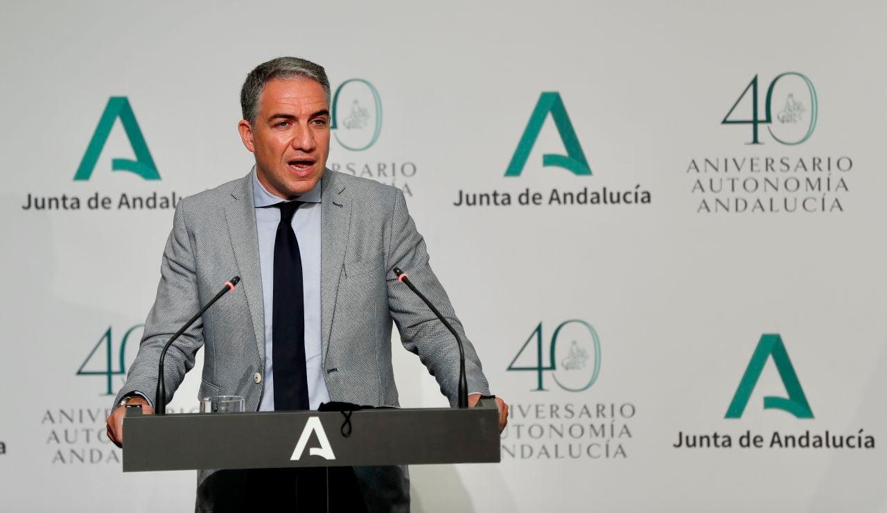 El consejero de la Presidencia de la Junta de Andalucía y portavoz del Gobierno, Elías Bendodo