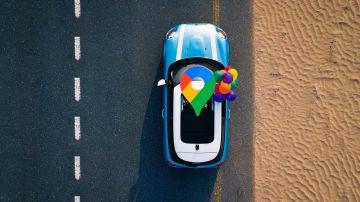 Coche y Google Maps