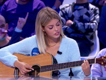 Nerea Rodríguez hace magia cantando 'No mires atrás' en 'Pasapalabra'