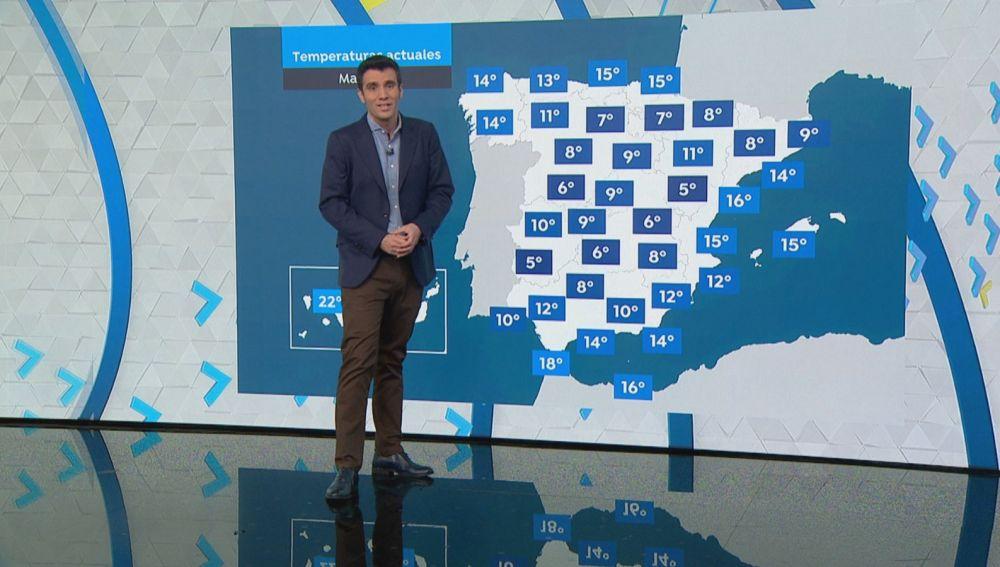 Previsión meteorológica martes 13 de octubre