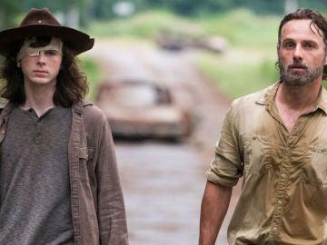 Carl y Rick en 'The Walking Dead'