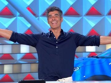 La celebración de Jorge Fernández tras un gran cambio en el plató de 'La ruleta de la suerte'