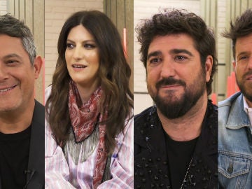 """Alejandro Sanz, Laura Pausini, Antonio Orozco y Pablo López, enfrentados en el reto de 'La Voz': """"¡No veas que intensidad!"""""""