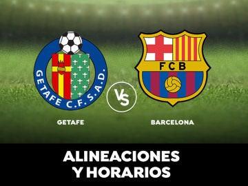 Alineaciones y horarios del Getafe - Barcelona