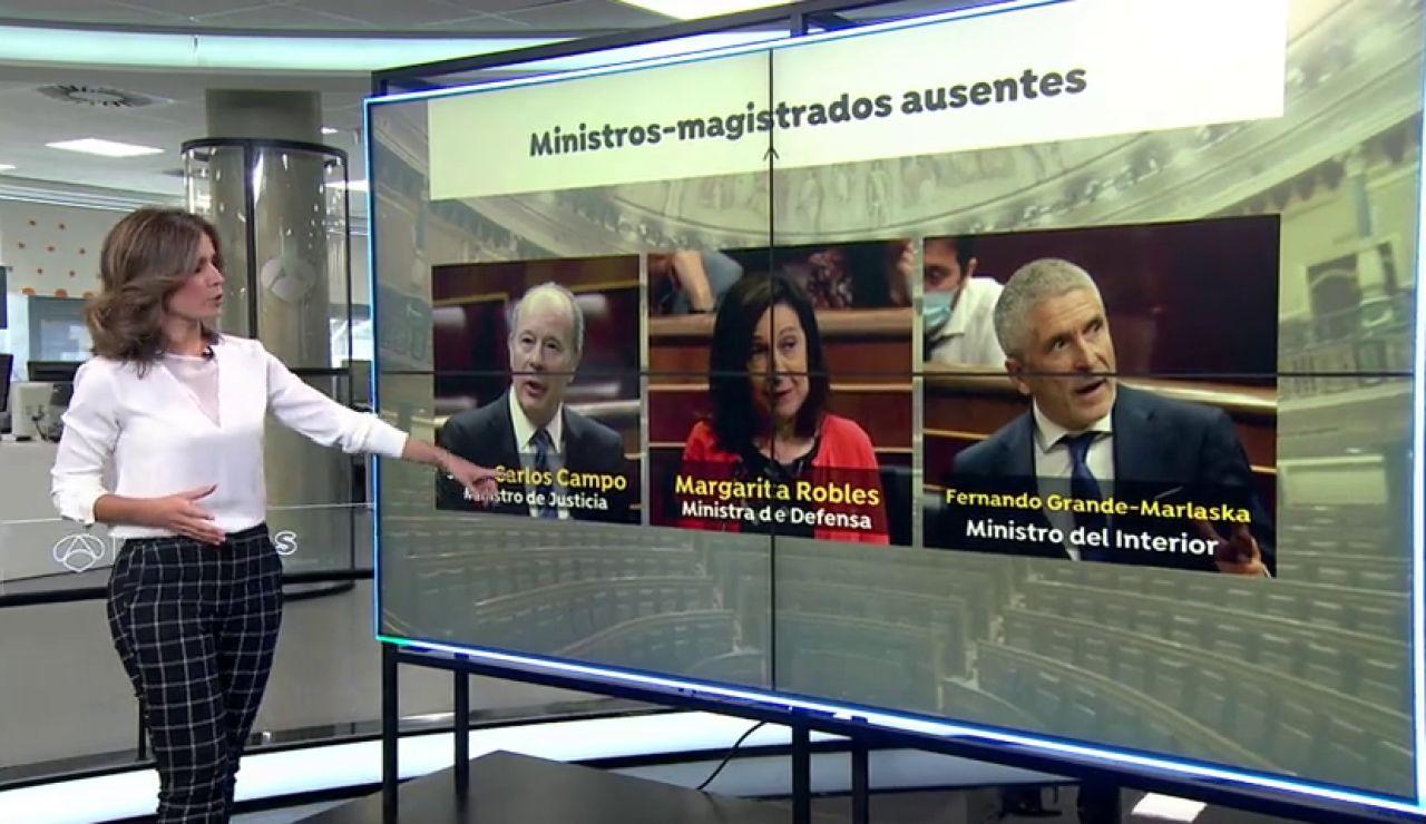 Los tres ministros magistrados, ausentes del Congreso en medio de la polémica por la reforma del Poder Judicial