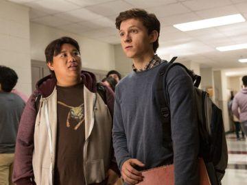 Jacob Batalon y Tom Holland en 'SpiderMan: Homecoming'