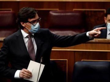 Salvador Illa en el Congreso de los Diputados