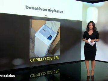 """Así es el """"cepillo digital"""" de la Colegiata de Gandía para realizar donativos durante la pandemia de coronavirus"""