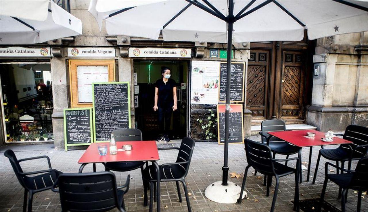 Una terraza de un bar en Cataluña