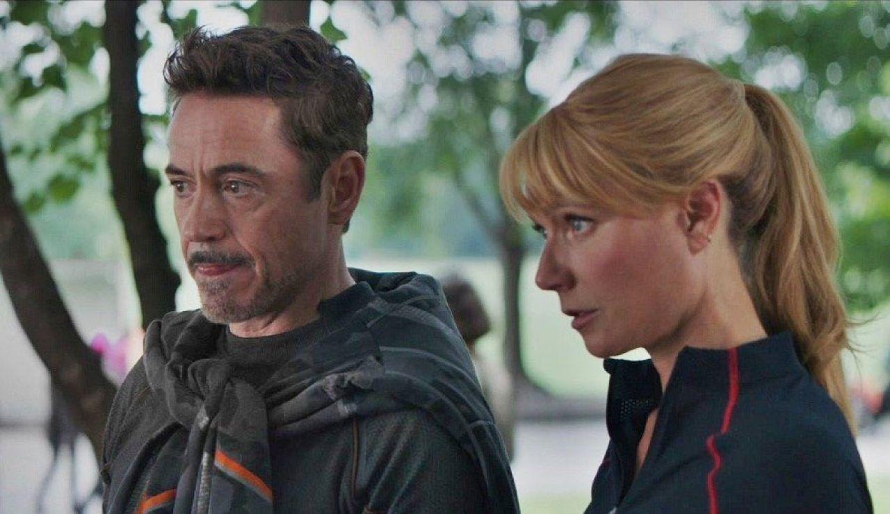 Gwyneth Paltrow y Robert Downey Jr. como Iron Man y Pepper Potts