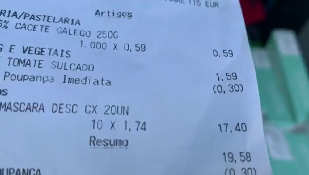 """La queja viral de un español comparando el precio de las mascarillas en Portugal con el de España: """"He comprado 200 por 17 euros"""""""