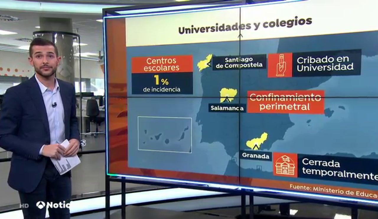Universitarios de Granada protestan contra la suspensión de clases por coronavirus
