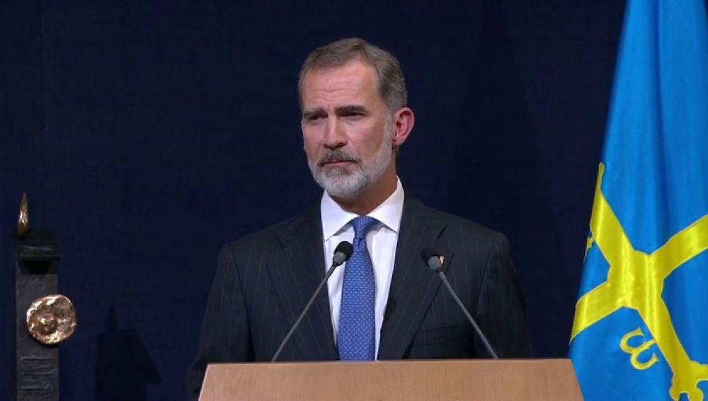 """Felipe VI, en el Premio Princesa de Asturias: """"Es necesario que todos hagamos un esfuerzo nacional y de entendimiento"""""""