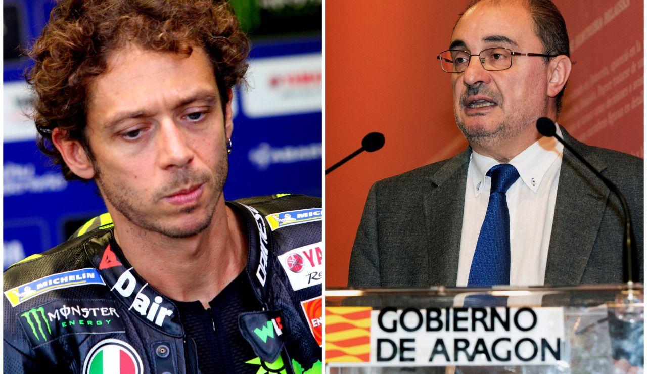 """El presidente de Aragón responde a Valentino Rossi: """"El coronavirus no es su principal problema de salud"""""""
