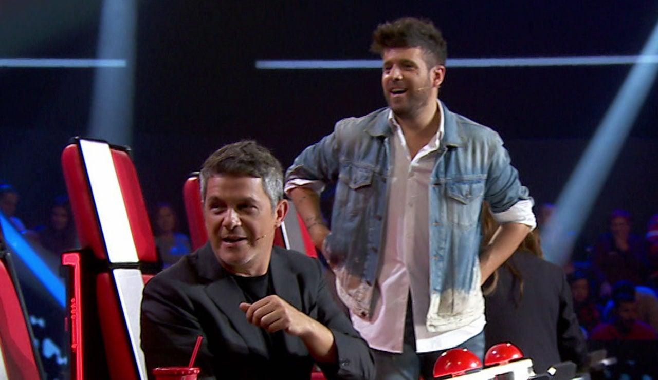 Alejandro Sanz y Pablo López, preocupados por la reacción de una talent en 'La Voz'