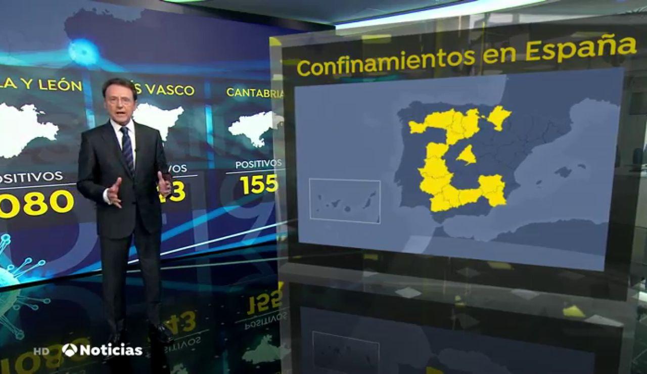 Sigue el aumento de contagios en España a pesar de que 58 localidades tienen confinamiento perimetral