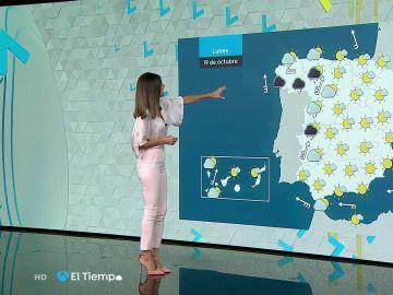 Tu Tiempo (18-10-20) La semana arranca con un frente atlántico que traerá lluvia y vientos fuertes