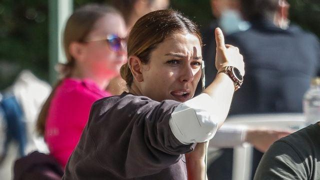 Blanca Suárez durante su quedada con amigos