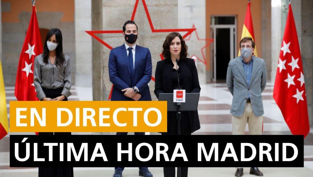Coronavirus Madrid: Estado de alarma, nuevos casos y última hora hoy, en directo