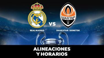 Real Madrid - Shakhtar: Horario, alineaciones y dónde ver el partido de Champions League en directo