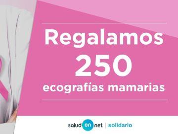 'Salud on net' regala 250 ecografias mamarias