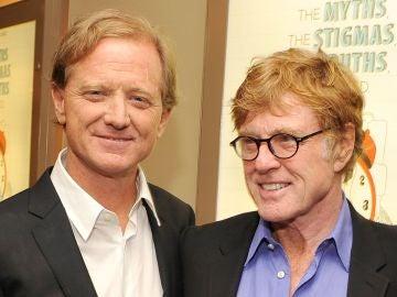 Robert Redford y su hijo James Redford