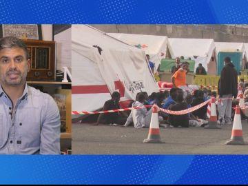 Nicolás Castellano periodista de la Cadena Ser hablando de las masivas llegadas de inmigrantes a Canarias