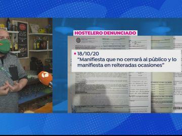 Hostelero en Barcelona que niega a cerrar a pesar de las restricciones por coronavirus
