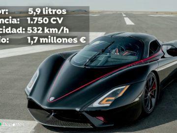 El SSC Tuatara bate el récord del mundo de velocidad con un coche de calle, 532 km/h