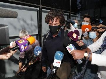 Nacho Palau a la salida de los juzgados