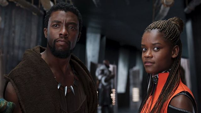 Chadwick Boseman y Letitia Wright en 'Black Panther'
