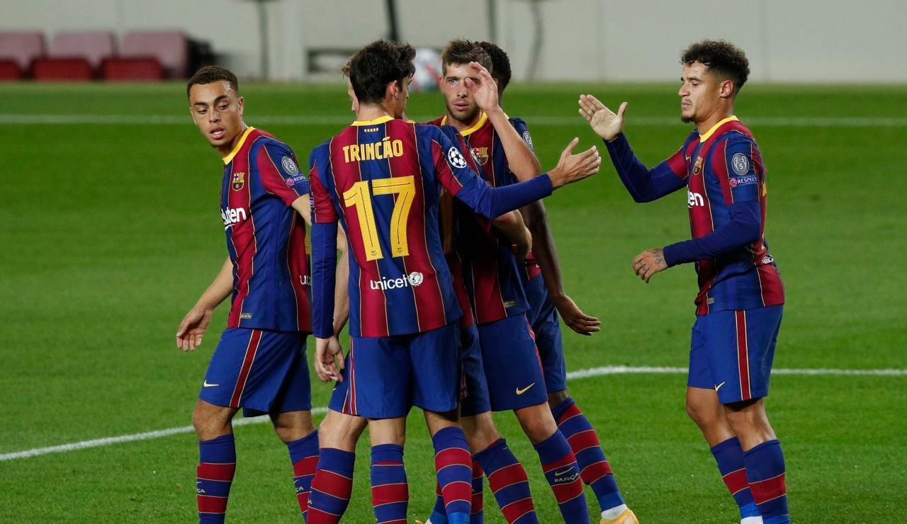 El Barça golea al Ferencváros en Champions League pero pierde a Piqué contra la Juventus de Turín