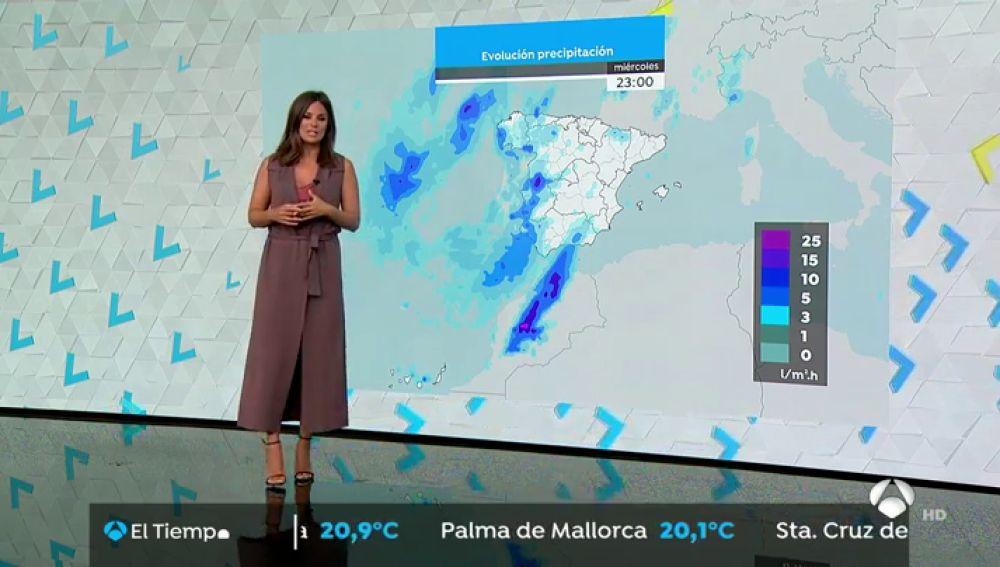 Miércoles sin la borrasca Bárbara pero con lluvias persistentes