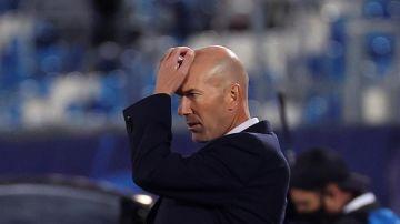 El entrenador del Real Madrid, Zidane Zidane.