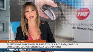 El metro de Barcelona se rinde y pide a los pasajeros que entreguen sus pertenencias a los ladrones