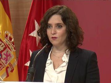 """Isabel Díaz Ayuso, sobre las restricciones en Madrid: """"Los jóvenes de 15 al 29 años suponen el 30% de los contagios"""""""