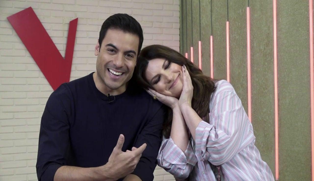 """Laura Pausini y Carlos Rivera, serenidad y autenticidad antes de los Asaltos de 'La Voz': """"Tratamos de aconsejar que sean verdaderos"""""""