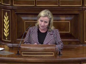 Ana Oramas, durante la moción de censura de Vox