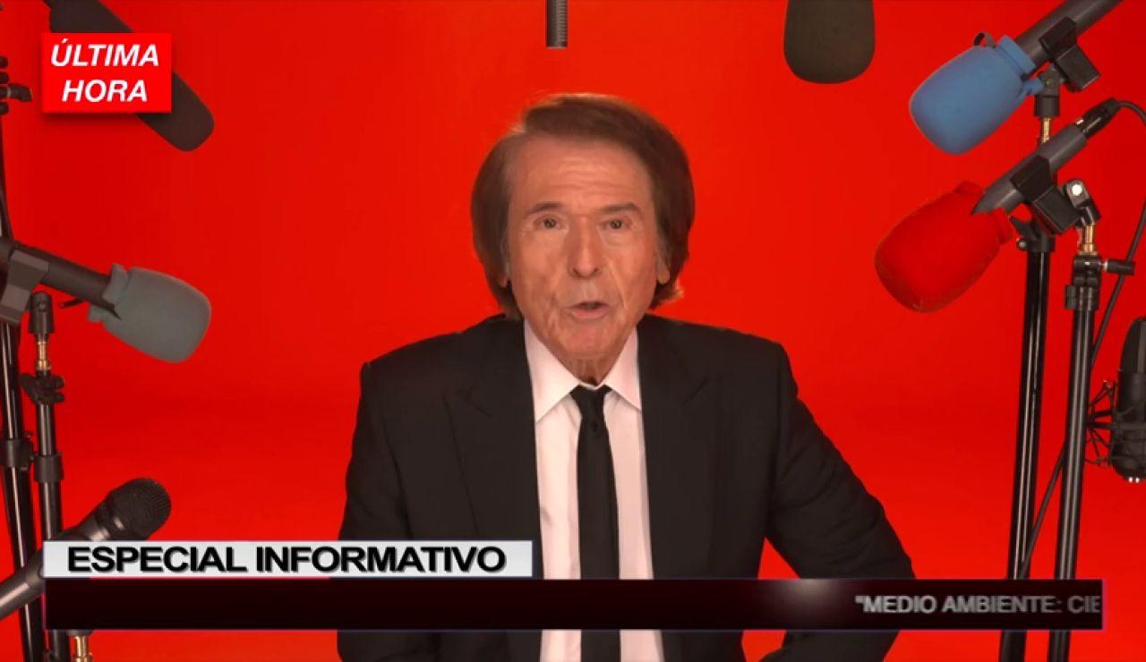 El misterioso anuncio de Raphael a lo Matías Prats
