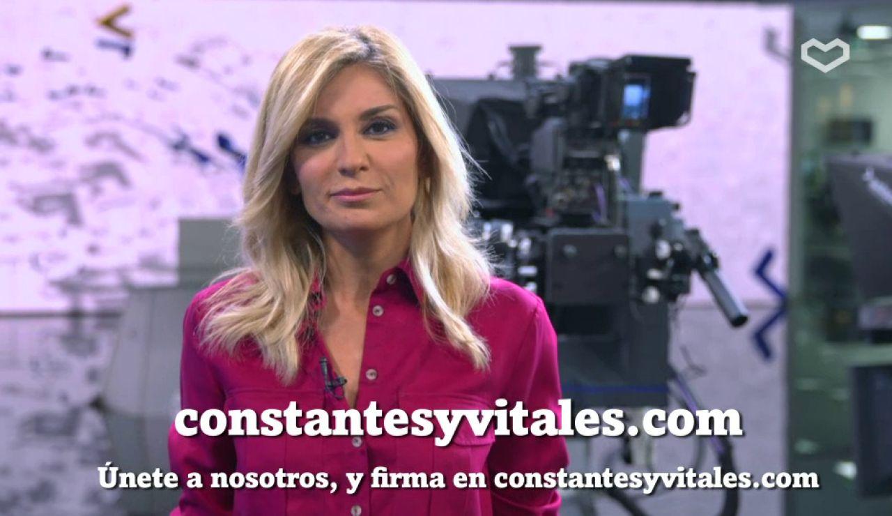 Sandra Golpe, en la campaña de Constantes y Vitales
