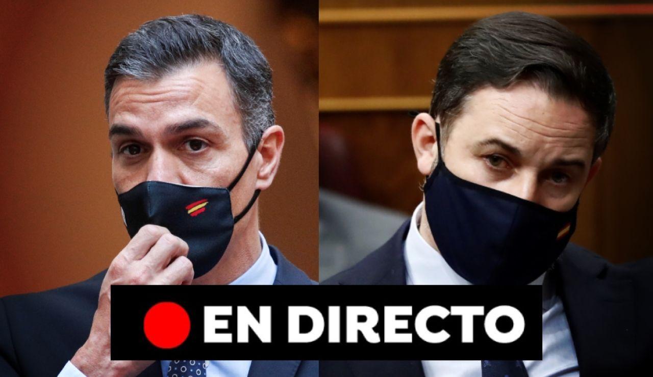 Moción de censura de Vox a Pedro Sánchez en el Congreso de los Diputados, en directo